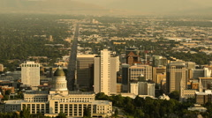 Time lapse of Salt Lake City Downtown evening Stock Footage