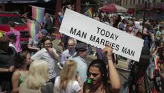 Man Marries Man Stock Footage