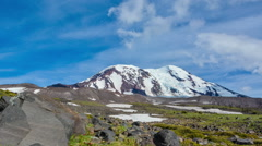 Daytime Time Lapse of Clouds over Cascade Volcano Stock Footage