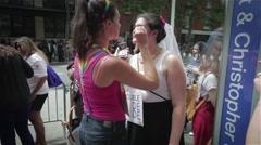 Bride Marries Bride Stock Footage