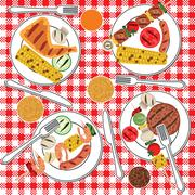 Stock Illustration of BBQ party