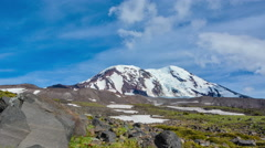 Daytime Time Lapse of Clouds over Cascade Volcano - 4K Stock Footage