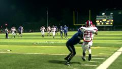 High School Running Back's Incredible Sideline Catch - stock footage
