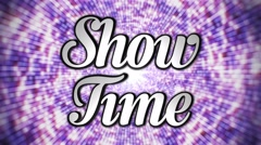 Show Time 3d Text Rotation, Loop, 4k - stock footage