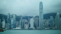 Atmospheric day in Hong Kong city TL 4K Stock Footage