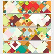Web banners collection, abstract header layouts. Abstract colored backgrounds - stock illustration