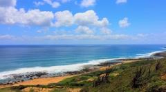 Beautiful beach in Kenting National Park, Taiwan. Stock Footage