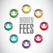 Stock Photo of hidden fees people community sign concept