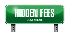 Stock Photo of hidden fees street sign concept illustration