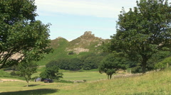Valley of the Rocks in North Devon Stock Footage