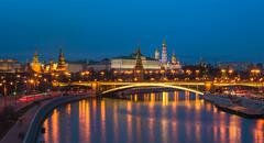 Night panoramic view of Moscow Kremlin, Russia Kuvituskuvat
