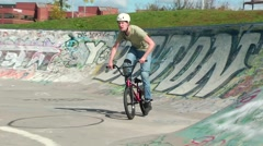 Crazy bmx rider does a sick backflip Stock Footage