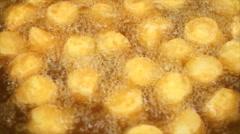Fresh tofu fried Stock Footage