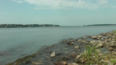 Volga River embankment Stock Footage