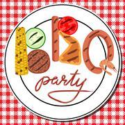 BBQ party - stock illustration