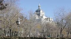 Dome of Catedral de Almudena - stock footage