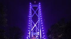 Vancouver BC 24fps lion gate bridge time lapse zoom - stock footage