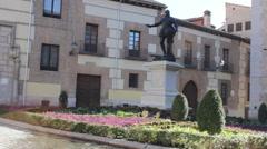 Monument of Alvaro de Bazan in Madrid Stock Footage