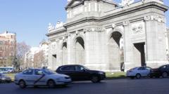 Puerta de Alcala 1 Stock Footage