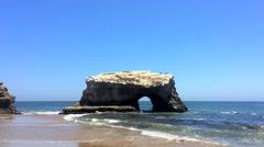 Natural Bridges State Park in Santa Cruz, California Stock Footage