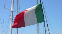 Stock Video Footage of Italian Flag