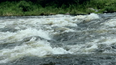 Rough river in forest Stock Footage
