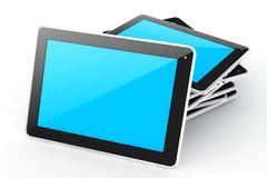 Digital devices tablet. - stock illustration