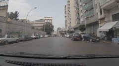 Beirut Driving Shot Stock Footage