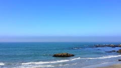 The Pacific Ocean at Davenport, from Highway One, California, United States Stock Footage