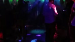 People dancing at a nightclub, in helsinki Finland - stock footage