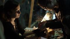 Stock Video Footage of Craft jewelery making. Handmade crafting