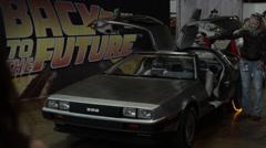 Back to the future - Delorean - DMC - Time Machine Comic Con 2015 Stock Footage