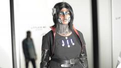 Human figures printed on the 3D printer Stock Footage