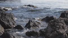 The Black Sea coast in Crimea Stock Footage