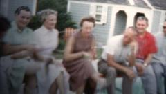 1959 - Chorus Line Kicking From Family - stock footage
