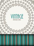 Retro Vintage Background Template Vector Illustration Stock Illustration