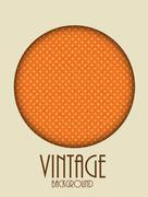 Retro Vintage Background Template Vector Illustration - stock illustration