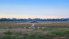 Airplane TakeOff From Runway Soar To Sky Stock Footage