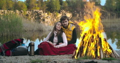 Campfire Stories - stock footage