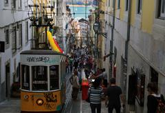 Streetcar in Lisbon, Portugal Stock Photos