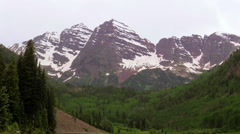 Maroon Bells Landscape Aspen Colorado Stock Footage