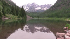 Maroon Bells Summer Reflection Stock Footage