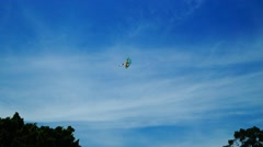Flying kites in the park Stock Footage