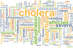 Cholera background concept - stock illustration