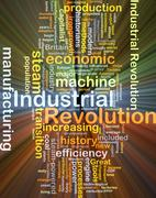 Industrial revolution background concept glowing Stock Illustration