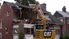 Waterfront property demolition Stock Footage