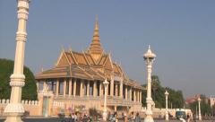 Moonlight Pavilion in Phnom Penh, Cambodia Stock Footage