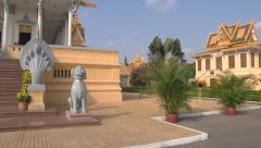 Hor Samran Phirun at the Royal Palace in Phnom Penh, Cambodia Stock Footage