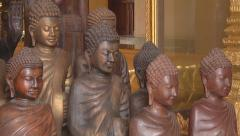 Statues at the Royal Palace complex in Phnom Penh, Cambodia Stock Footage
