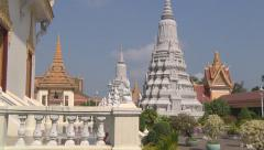 Royal Palace complex in Phnom Penh, Cambodia Stock Footage